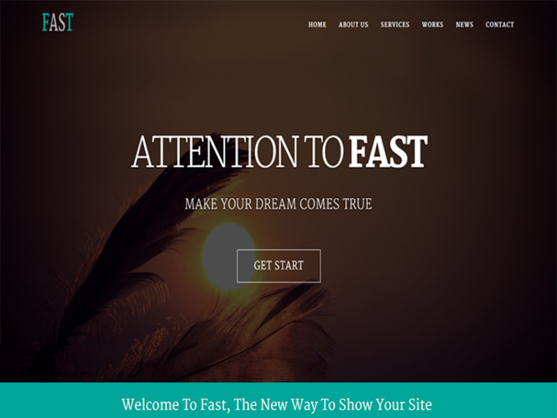 Fast - Responsive Website Template