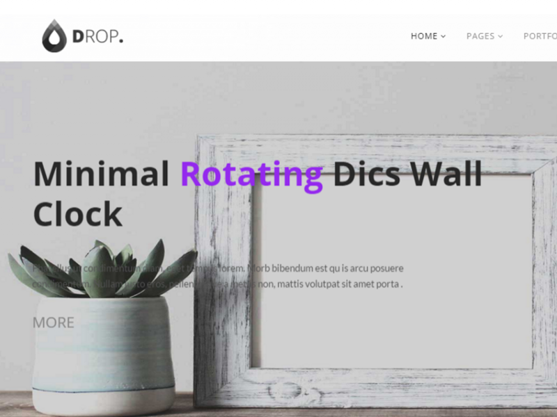 DROP Business - Creative Multipurpose Responsive & Portfolio Minimal Theme