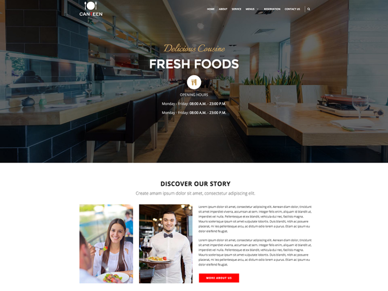 Canteen - Multipage Restaurant Template