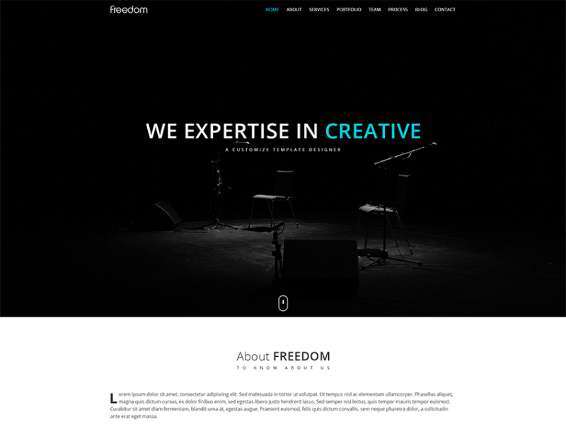 Freedom - One Page Responsive Template