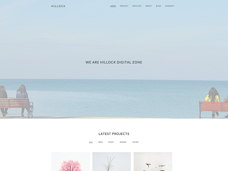Hillock - Simple Creative One Page Template