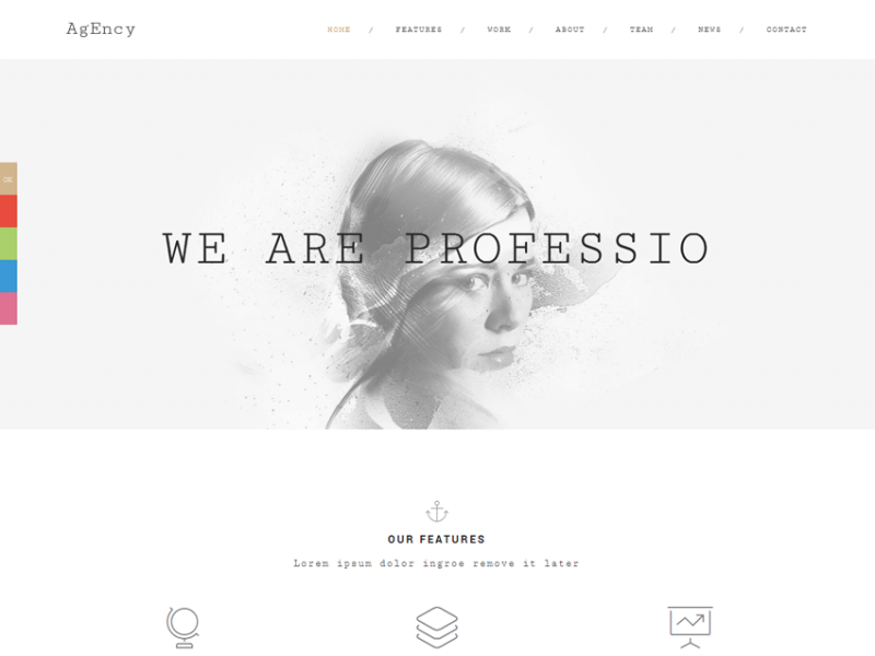 Agency - OnePage Responsive HTML5 Template