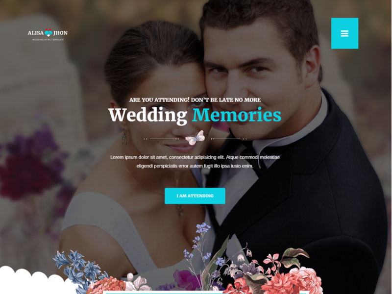 Wedding - Responsive Theme