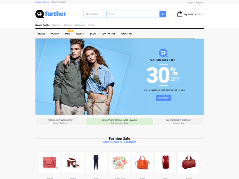 Further Responsive eCommerce Template.