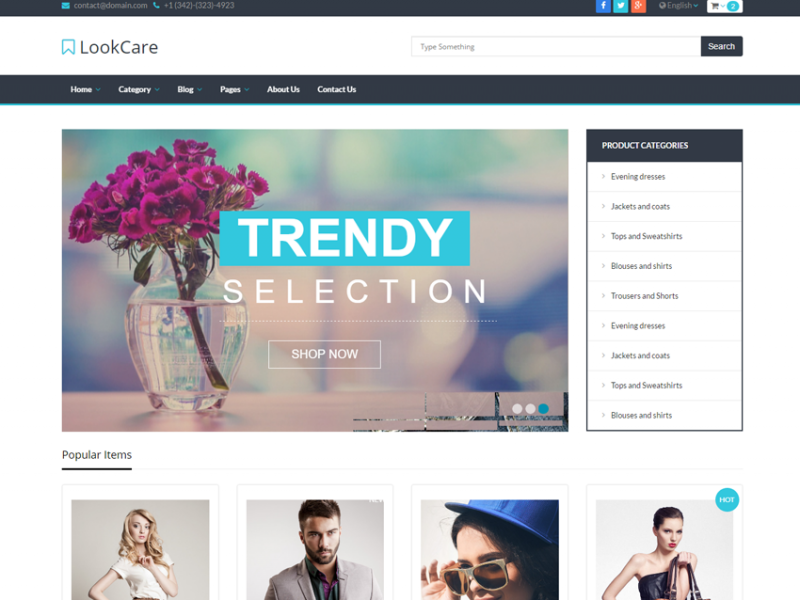 LookCare - Premium eCommerce HTML5 Template