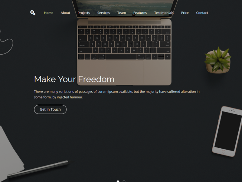 Freedom 2.0 - HTML Site Template