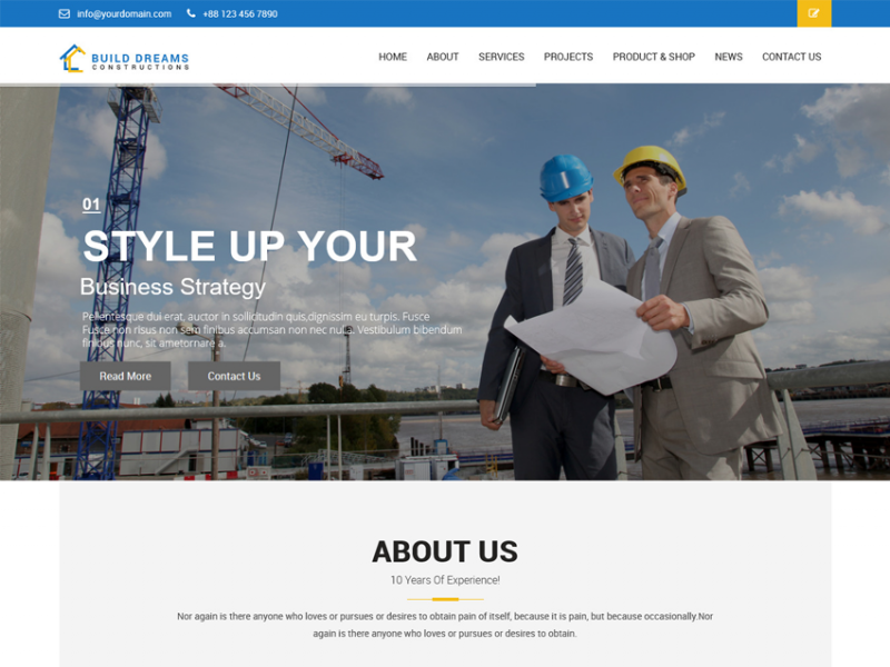 Build Dreams Constructions Multipurpose HTML5 Template