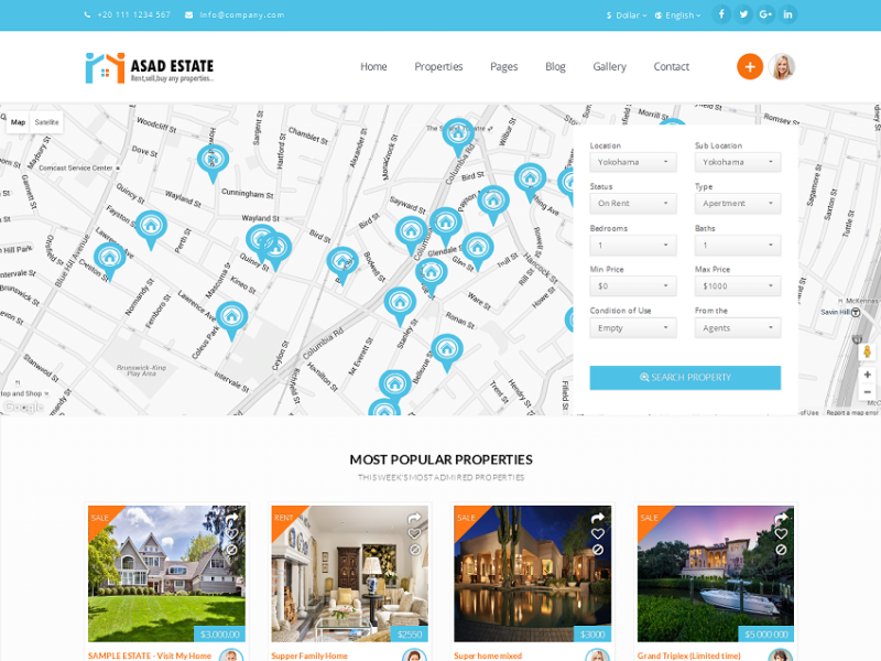 Asad-Estate : bootstrap Real estate template