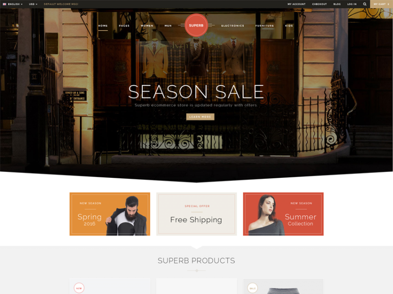 Superb - Responsive Ecommerce Template