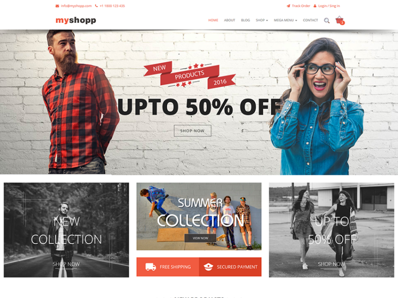 MyShopp - Responsive E-commerce Template