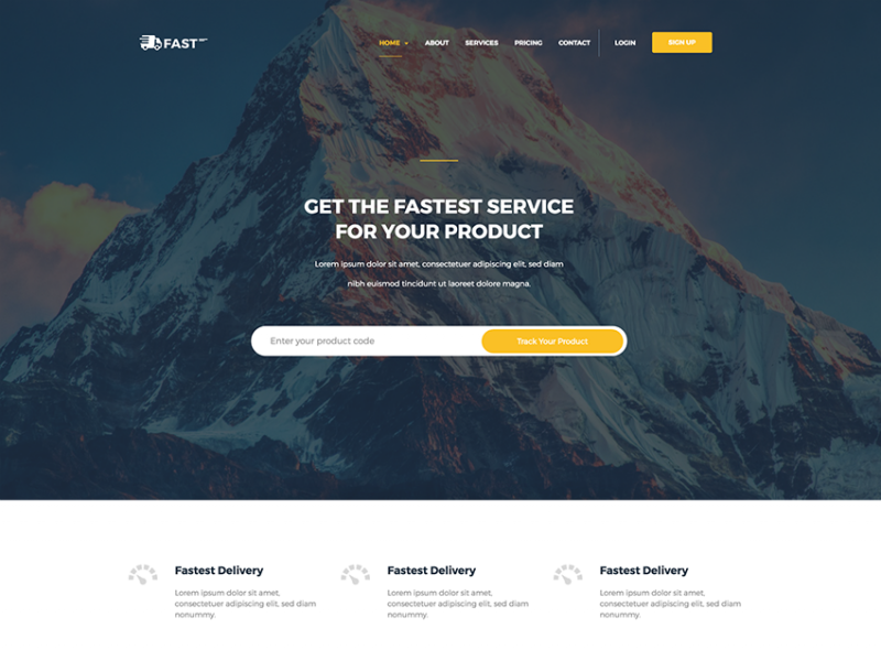 Fast - Courier & Delivery HTML Template