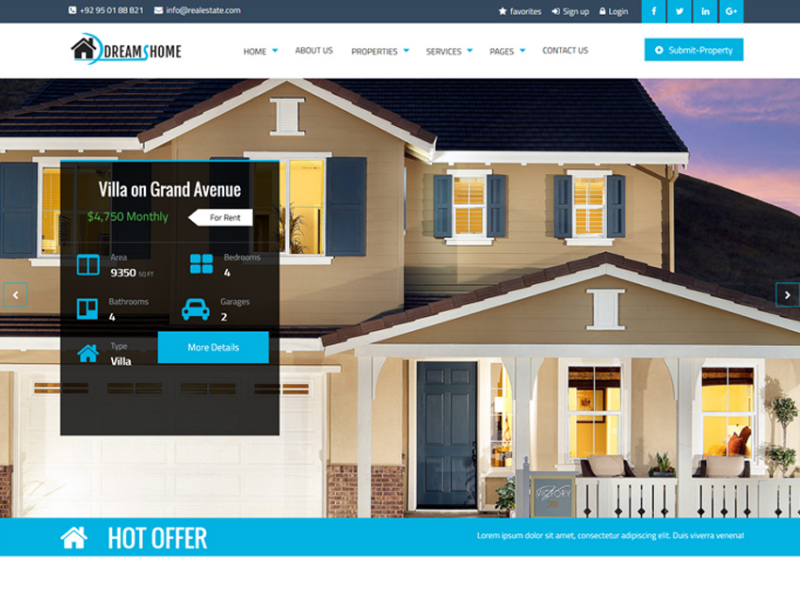 Dreams Home Real Estate Multipurpose Business Template