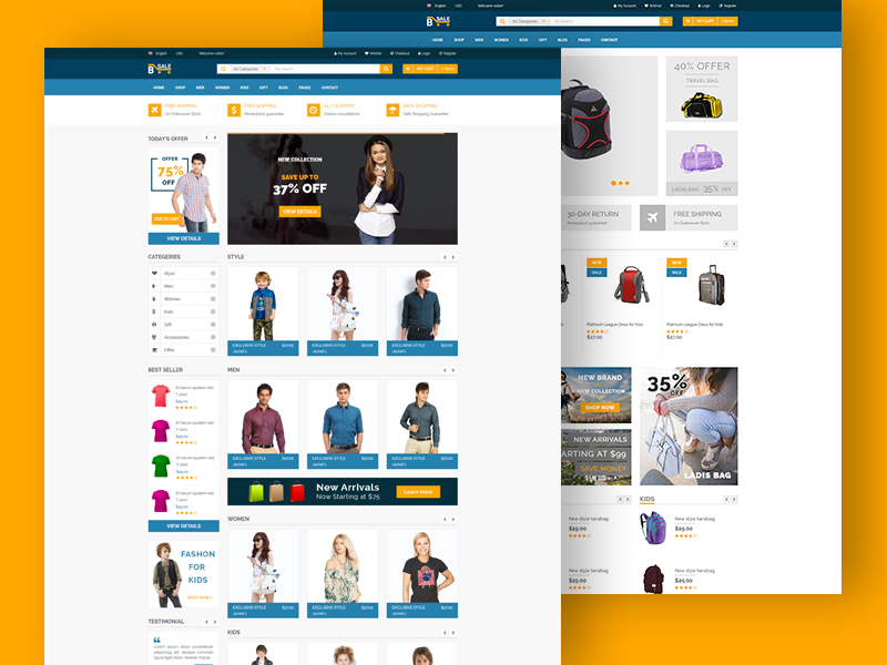 B-Sale - eCommerce Fashion Template