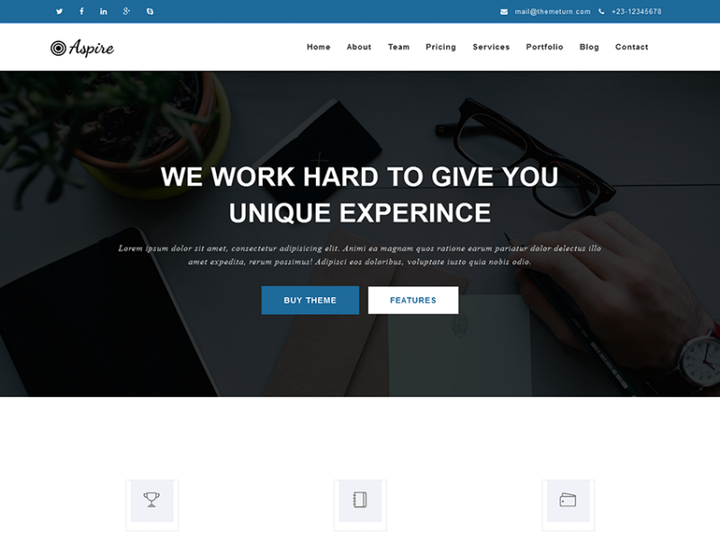 Aspire-corporate landing template