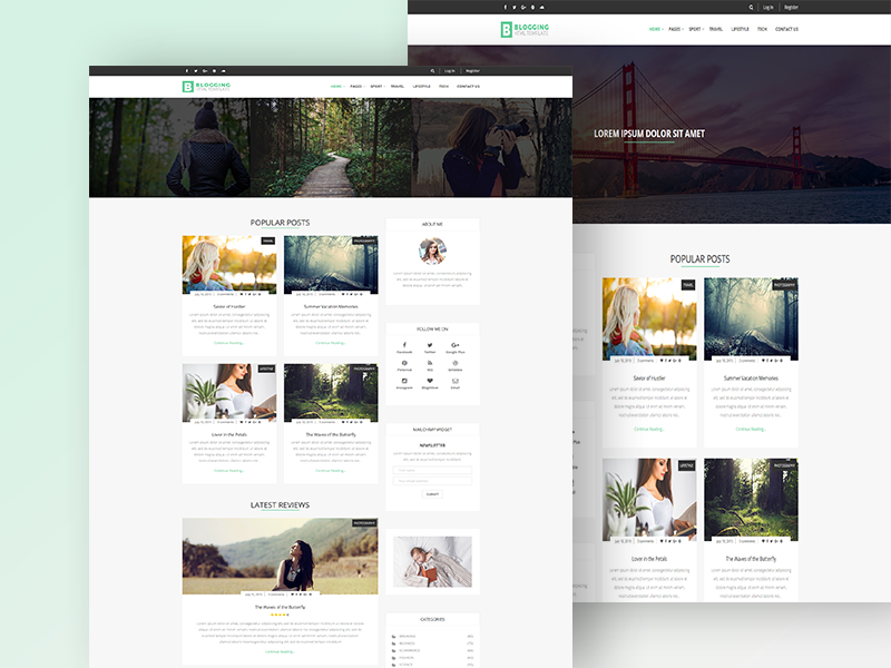Blogging - Free Responsive Blog Template