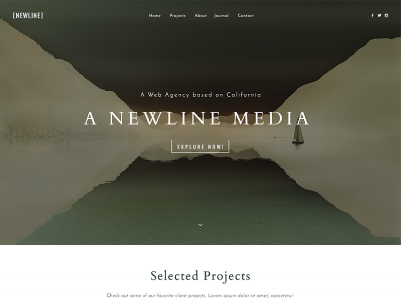 Newline - A Simple & Flexible Portfolio HTML Template