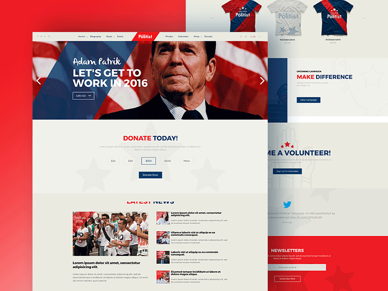 Politist – Responsive HTML Template for Politicians/Election Campaigns