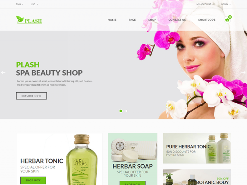 Plash - Spa Beauty Shop Template