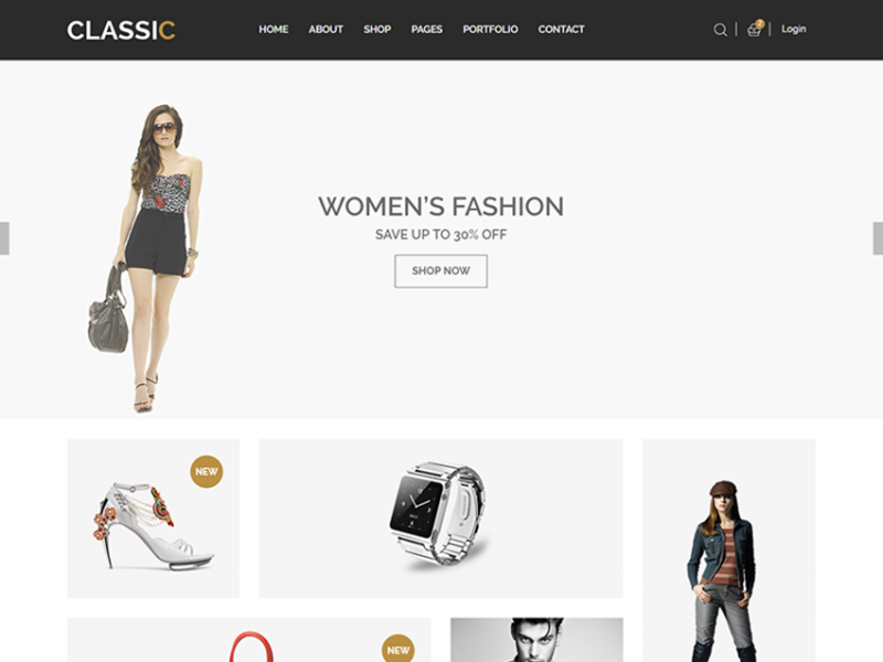Classic –  Free eCommerce Fashion Template