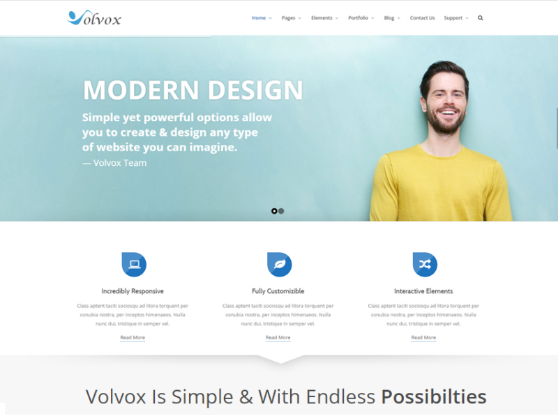 Volvox - Responsive HTML5 Bootstrap Template