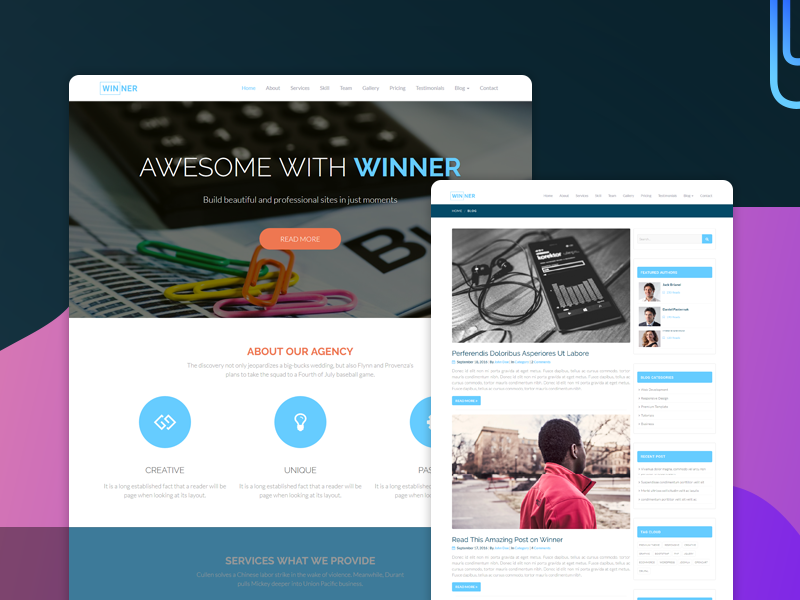 Winner - Multi-Purpose HTML Template