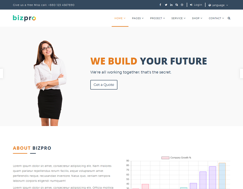 Bizpro Business HTML Template