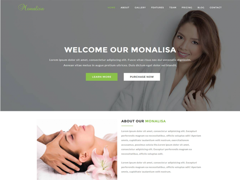 Monalisa - Health & Beauty HTML Template