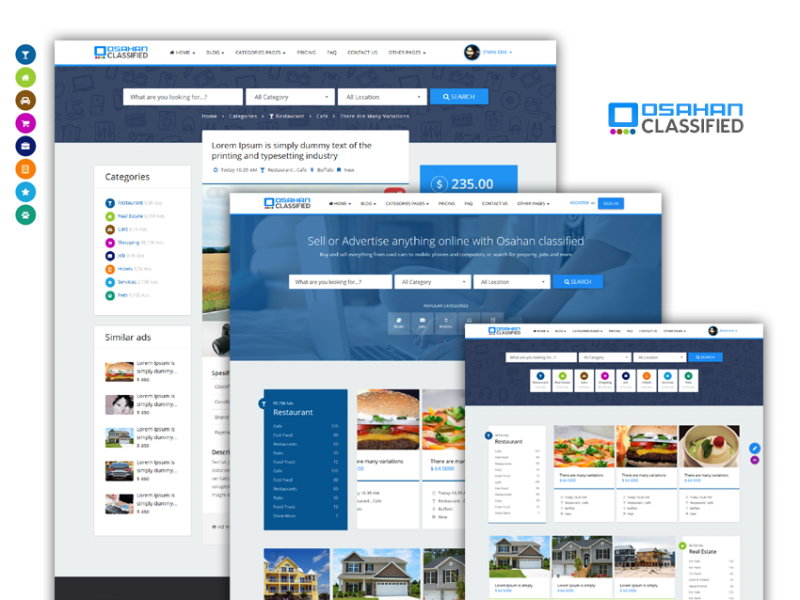 Osahan classified | Bootstrap Responsive Website Template