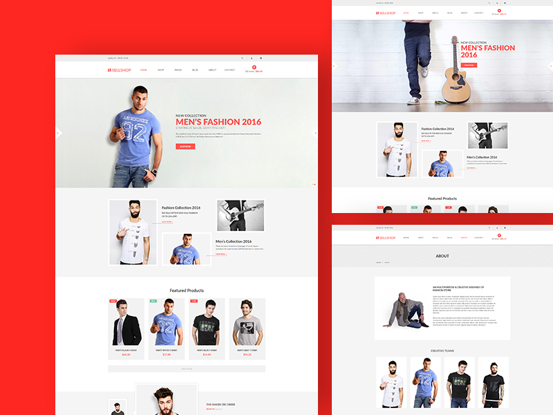 Sell Shop - Free eCoommerce HTML5 template