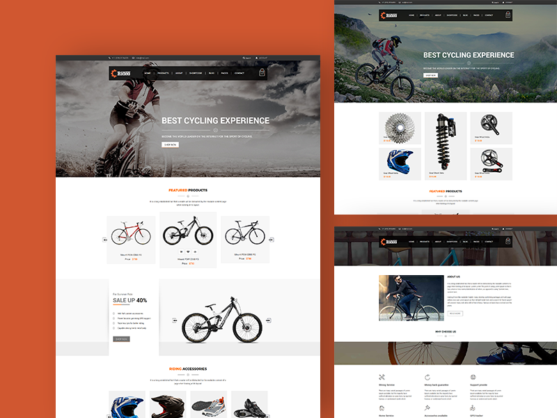 Rideo - Free eCommerce HTML Template