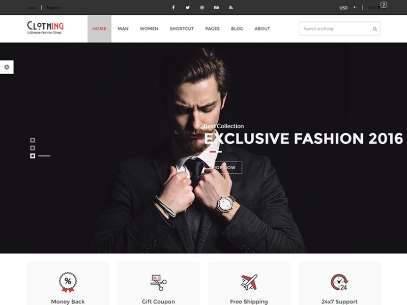 Clothing - Free eCommerce Fashion Template