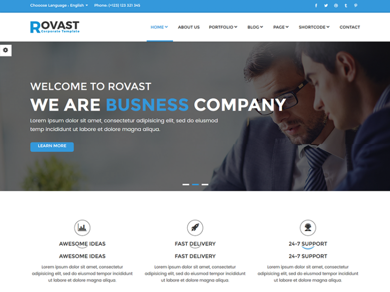 Rovast – Multipurpose HTML Template
