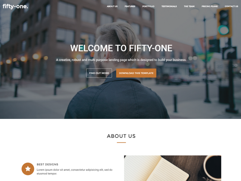 Fifty-one. - A creative, robust & multi-purpose responsive landing page template