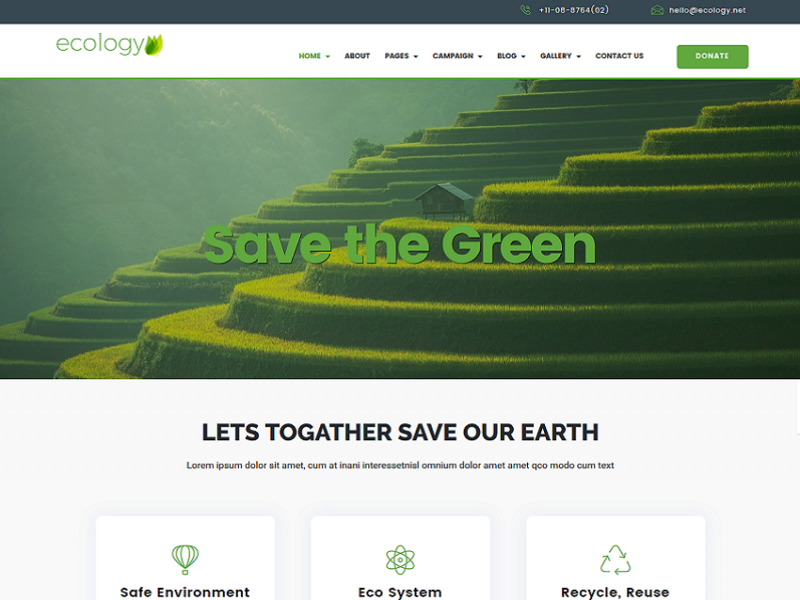 Ecology - Environment / Non-Profit HTML Template