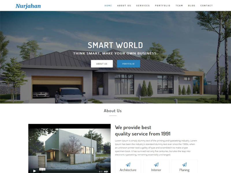 Nurjahan - Creative Architecture & Interior HTML5 Template