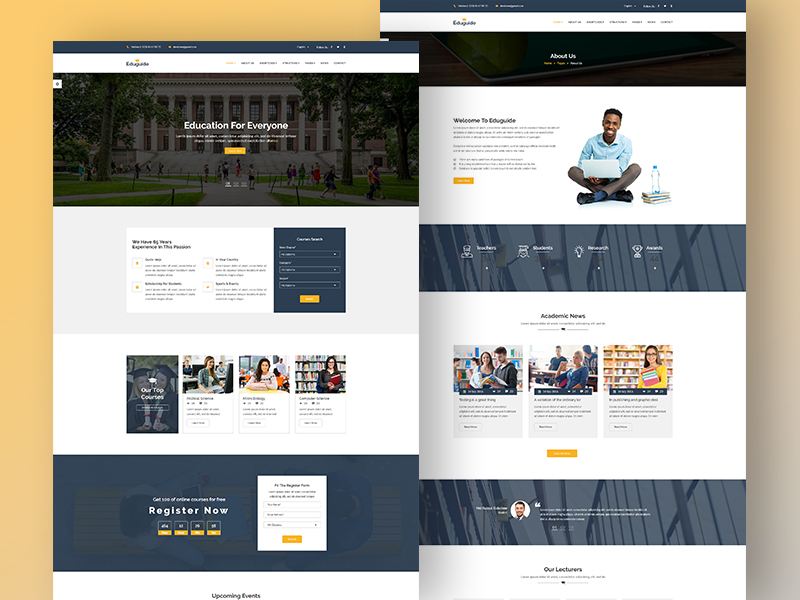 Eduguide  – Education Bootstrap Template
