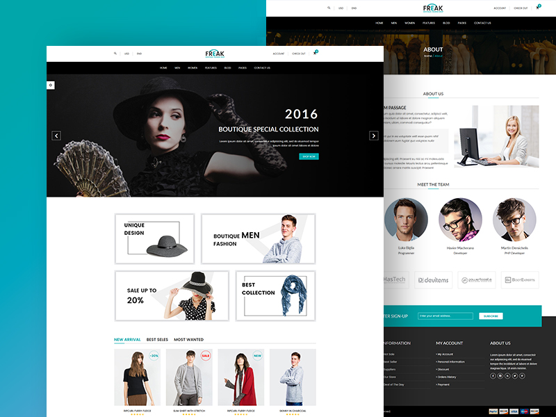Freak - Boutique eCommerce Template