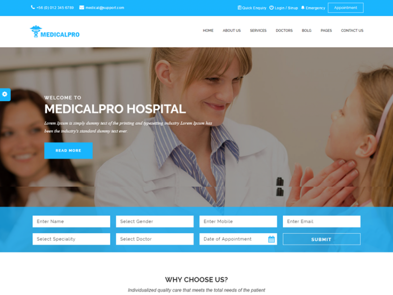 Medical Pro HTML Tamplate