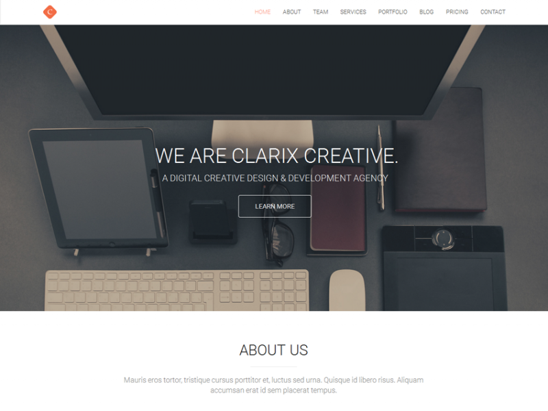 Clarix - Creative Agency Template