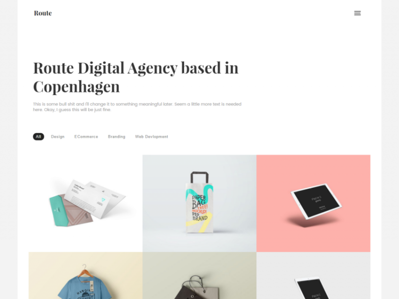 Route Personal and Agency Template