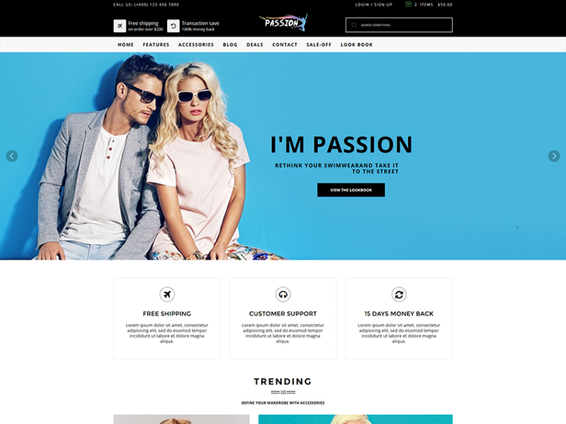Passion || Fashion HTML5 Ecommerce Template