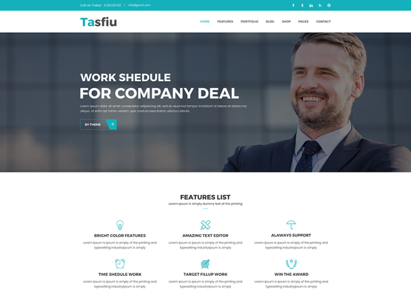 Tasfiu – Multipurpose HTML Template