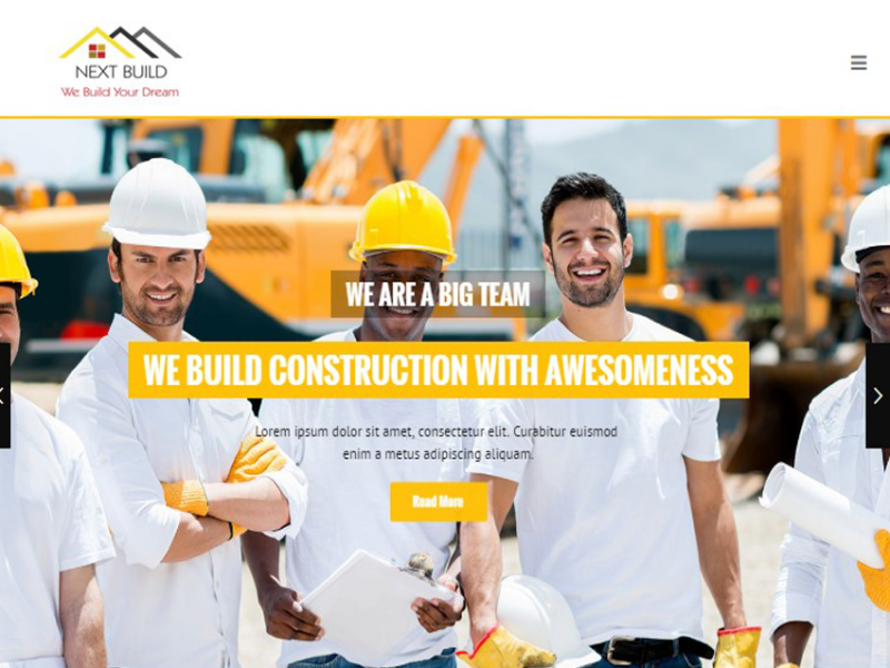 NEXT BUILD | A Construction Responsive HTML Template