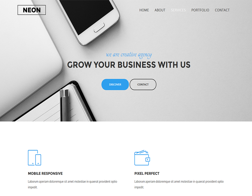 Neon - HTML5 Business Template