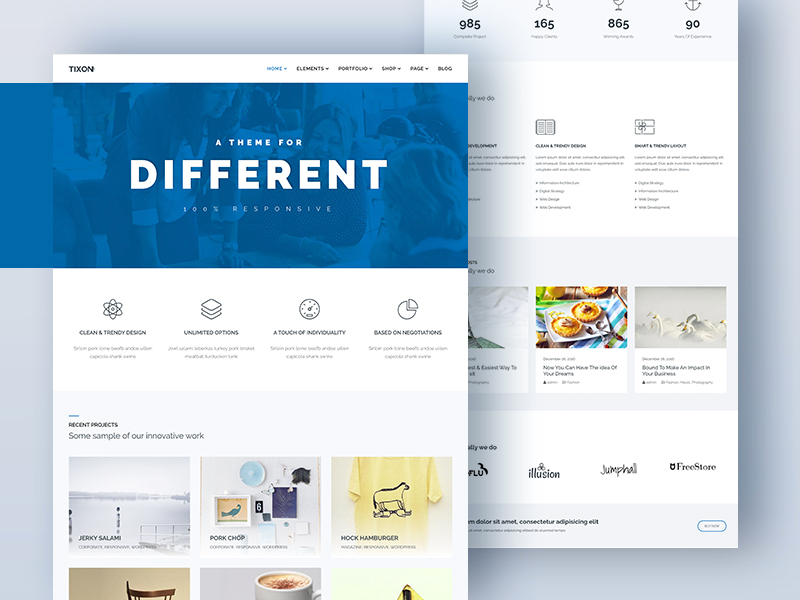 Tixon - Responsive Multi-Purpose Theme