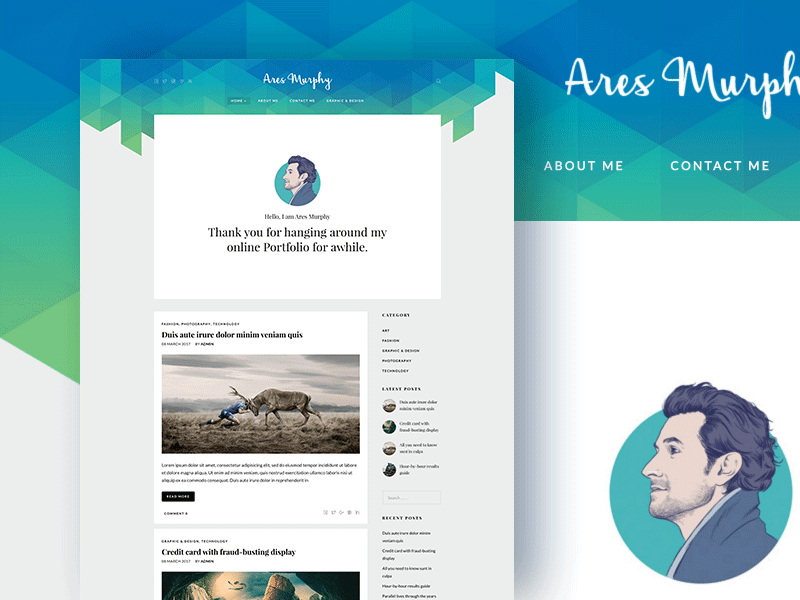Ares Murphy - WordPress Theme for Business, Photographer, Blog and Resume