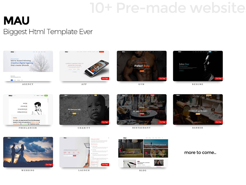 Mau - Biggest Html Template Ever