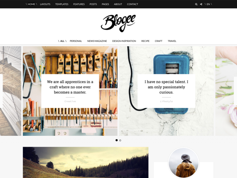 Blogee - beautiful blog / magazine template