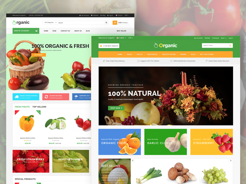 Organic - Food & Cafe HTML5 Template
