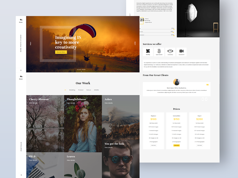 Dune Creative One Page Photography Template